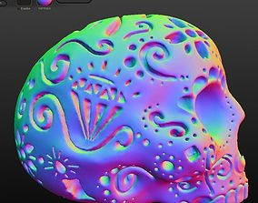 Patterned Skull 3D printable model