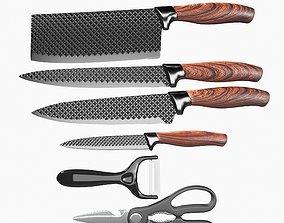 Kitchen Knife Set 3D