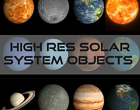 low-poly HD Solar System Pack 3D Model