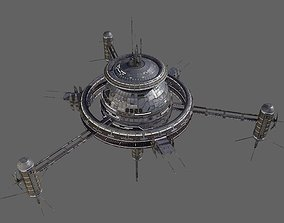 Space Station Low Poly 3D model