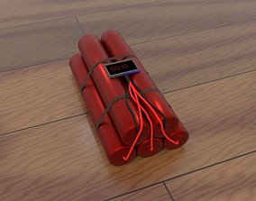 3D model pipe bomb - time bomb