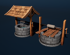 Stylized Well 3D asset realtime PBR