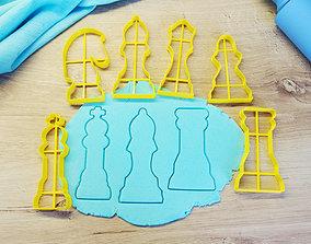 Chess figures cookie cutter 3D print model sweet