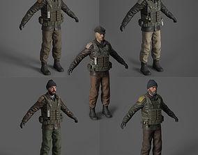 Terrorist 3d model pack low-poly
