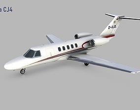 3D asset game-ready Cessna Citation CJ4