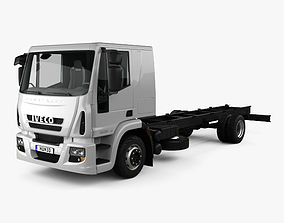 Iveco EuroCargo Chassis Truck 140E-E25 with HQ 3D model 1