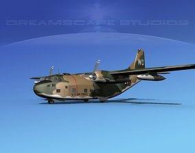 Fairchild C-123B Provider USAF Vietnam 3D model animated