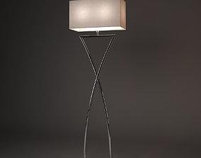 Chelsom Polished Chrome Suite Floor Lamp 3D model