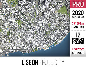 Lisbon - city and surroundings 3D asset low-poly