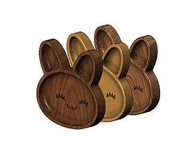 3D printable model Bunny wooden bowl