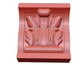 3D printable model Carved bracket KR 011