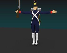 Artillery soldier 3D model