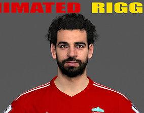 Mohamed Salah Animated Rigged 3D asset