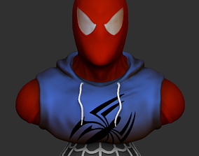 Scarlet Spiderman Bust 3D print model