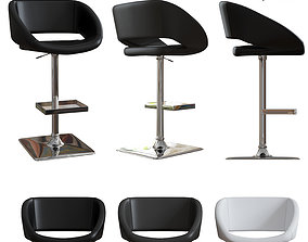 Sunpan Modern Gustavo Adjustable Barstool 3D model