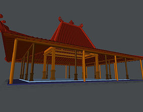 3D model big traditional pavilion