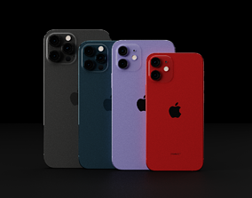 Apple iPhone 12 All Models in all Official Colors 3D