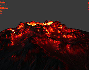 other 3D model VR / AR ready volcano