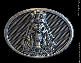 Egyptian skull vol1 belt buckle and relief 3D print model