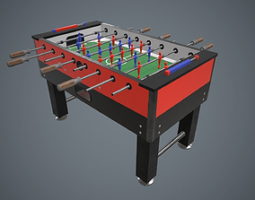 Table football PBR Game Ready 3D model