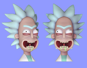 Rick Sanchez Bust - Rick and Morty 3D Model - 3D