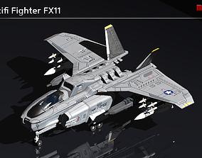 Scifi Fighter FX11 3D model