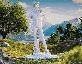 David by Michelangelo 3D PBR