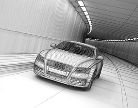 Subway With Car Audi 3D