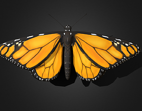 Low poly Monarch Butterfly - Animated 3D asset