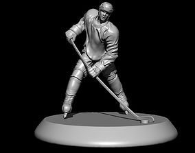 Hockey Player Statue 3D print model