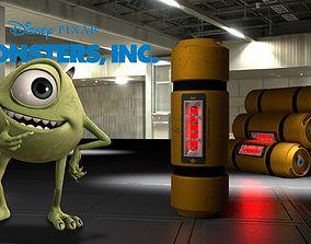3D asset Monster Inc Energy tank