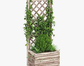 3D Planter With Lattice 1