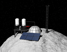 Asteroid station 3D