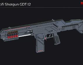 3D model realtime Scifi Shotgun GDT 12