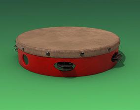 Tambourine 3D asset