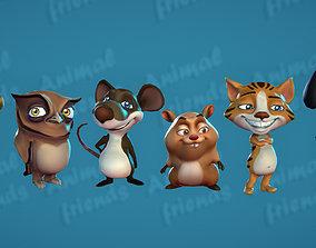 3D model Animal Friends