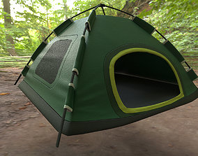 Camping tent 3d model game-ready PBR