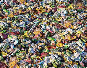 Garbage material 3D