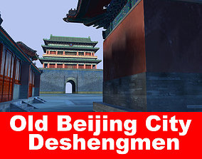 3D Old Beijing City deshengmen