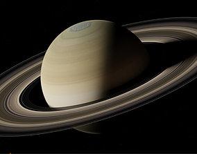 Planet Saturn 3D model planet