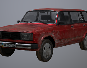 3D asset Vaz-2104 station wagon