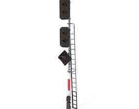 Train Traffic Light 14 3D