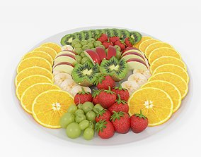 Fruit platter 3D model VR / AR ready