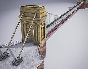 South Portland Street Suspension Bridge 3D asset