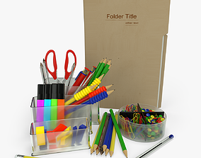 paper Office Supplies 3D model