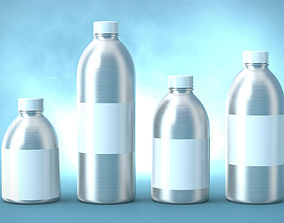 3D Aluminium Bottles