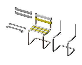 3D printable model Miniature garden chair mockup
