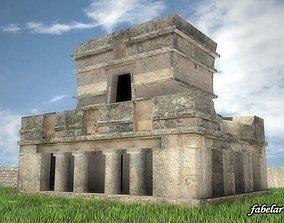 Tulum Maya ruins 3D model