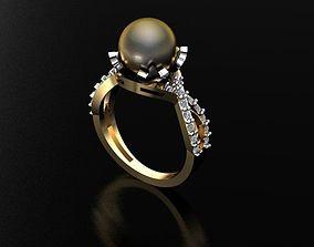 jewelry Ring pearl 3D print model