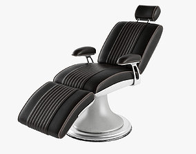Barber Chair 3D model game-ready